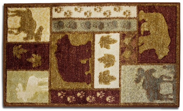 Studio Carved Moose and Bear Rug