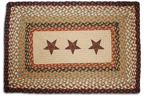 Barn Star Braided Rug Rectangle