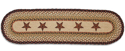 Barn Star Braided Rug Runner