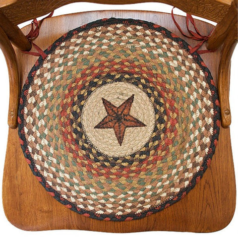 Braided Chair Pads Barn Star