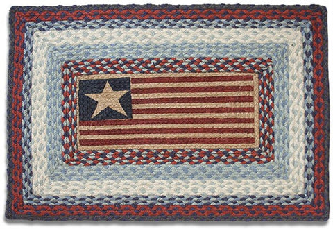American Flag Braided Rug Rectangle