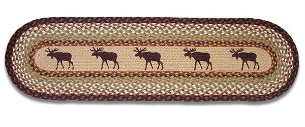 Moose Braided Rug Runner