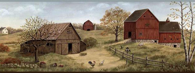 Country Barn Wallpaper Border FFR65391B
