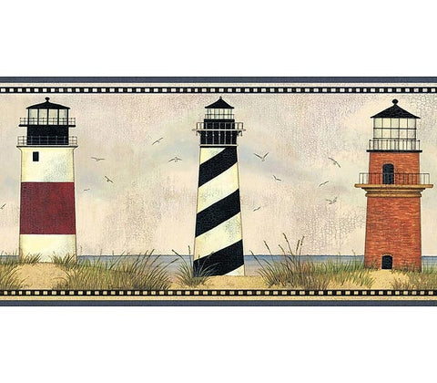 Lighthouse Wallpaper Border AAI08072B