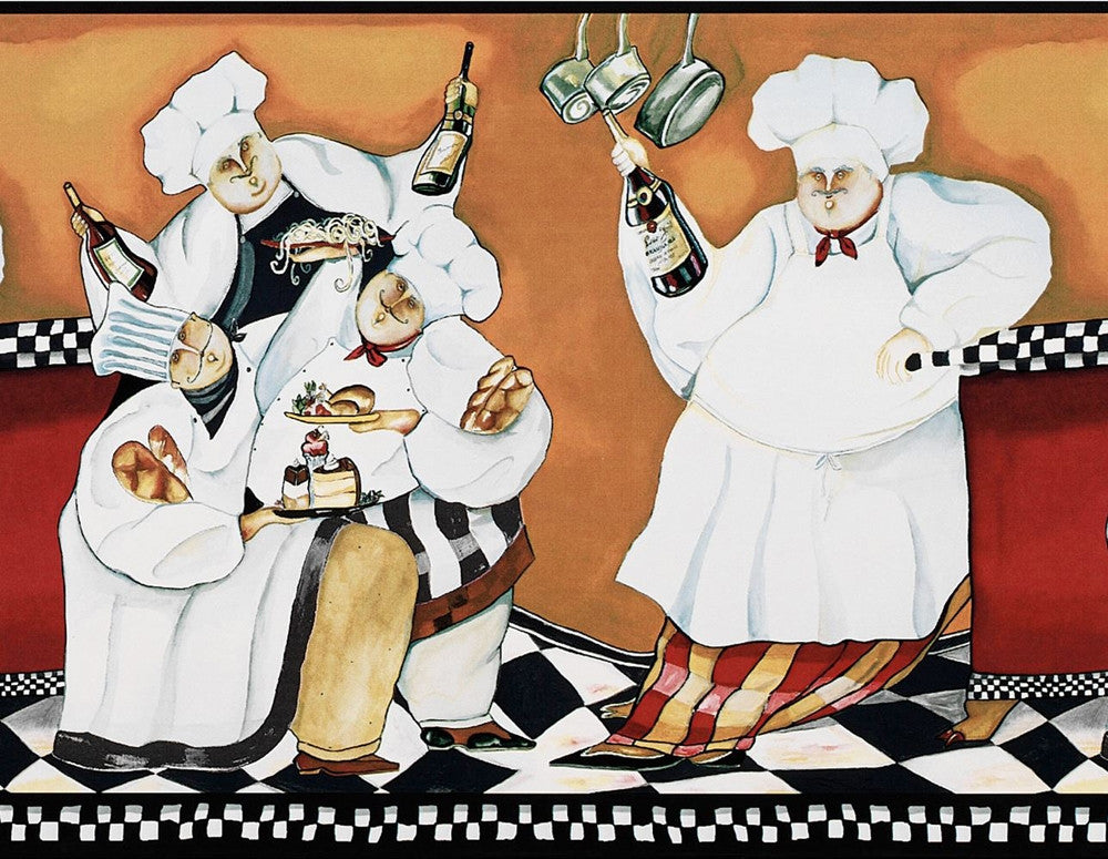 Fat Chef Wallpaper Border BG1680BD