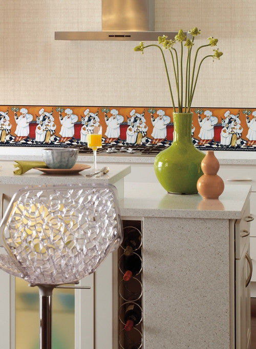... Fat Chef Wallpaper Border BG1680BD Cafe Kitchen Fat Chef Decor