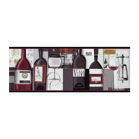 Contemporary Wine Wallpaper Border BG1682BD