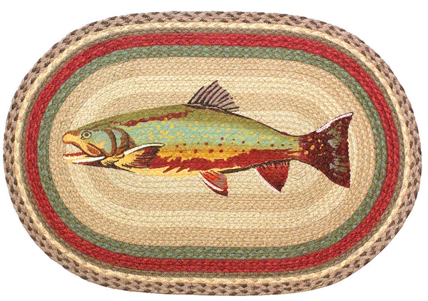 Rainbow Trout Braided Rug Oval Scarbrough Faire