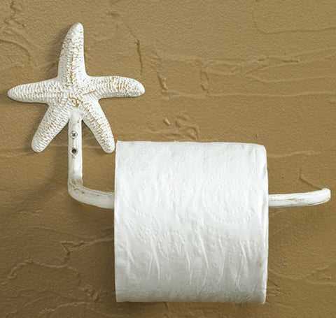 Starfish Toilet Paper Holder White