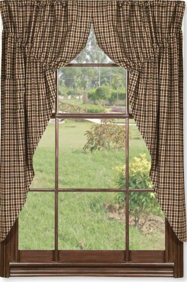 Black and Tan Prairie Curtain