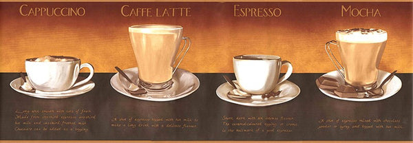 Coffee Wallpaper Border AW0709B cafe coffee decor espresso cappuccino