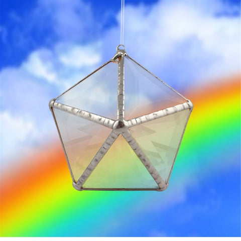 Rainbow Water Prism Mini Decahedron