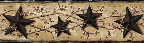 Black Barn Star Wallpaper Border FFR65362B