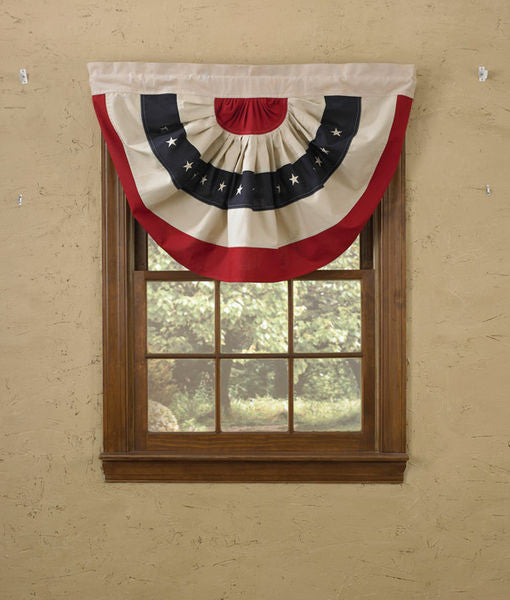 Patriotic American Flag Bunting Valance
