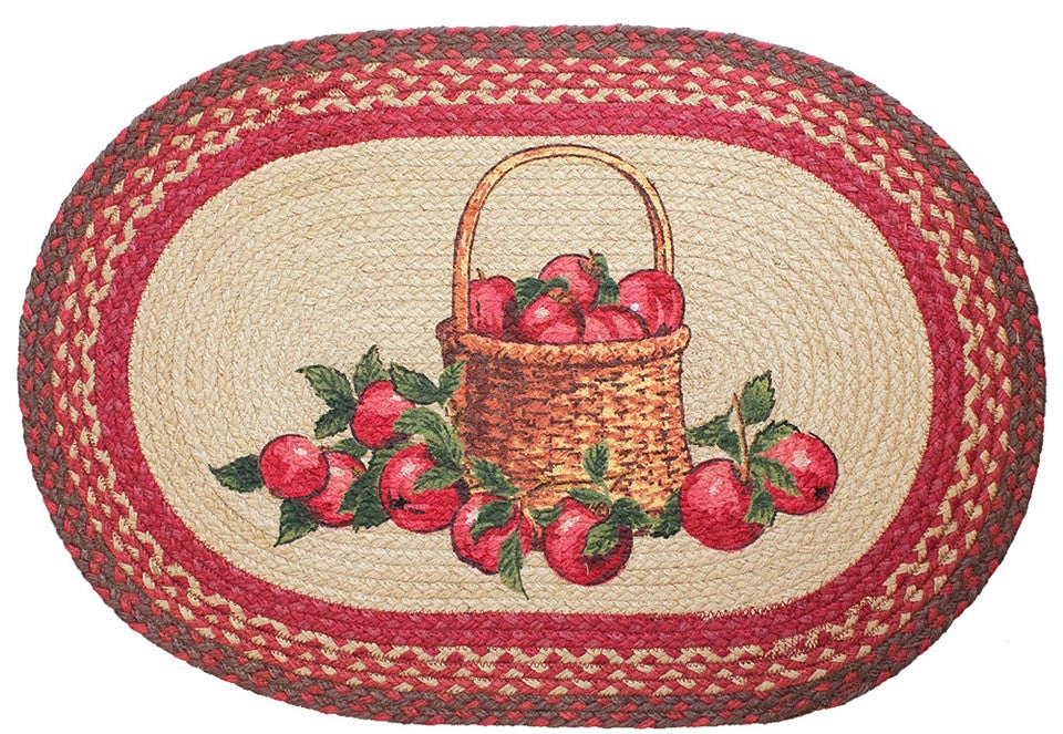 Apple Basket Braided Rug Oval