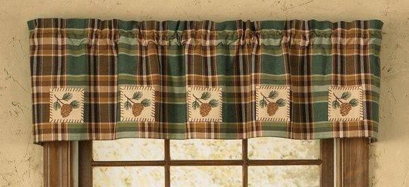 Pinecone Patch Curtain Valance