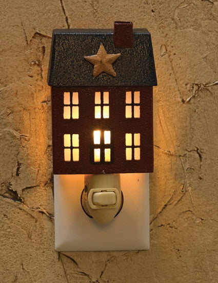 Primitive House Night Light Country Home Decor Lighting