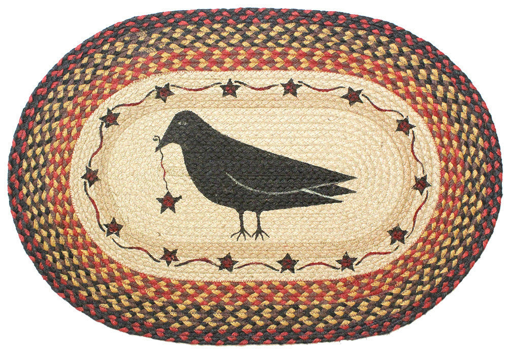 Crow Braided Rug Oval