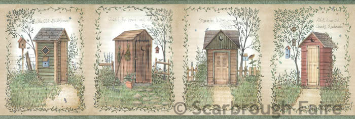 Outhouse Wallpaper Border Ffr50321b Linda Spivey Country