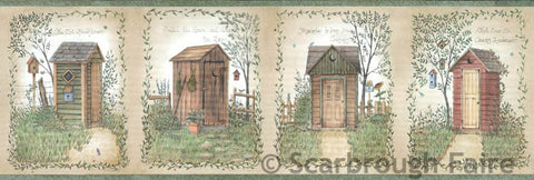 Outhouse Wallpaper Border FFR50321B