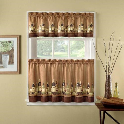 Wine Decor Window Curtains