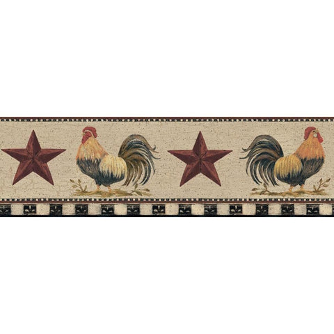 Rooster and Barn Star Wallpaper Border YC3401BD