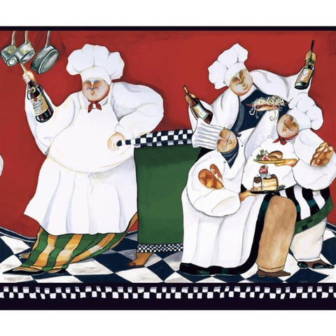 Fat Chef Wallpaper Border AM8847BD