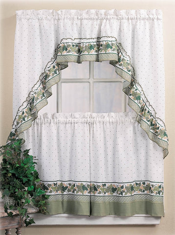 Cottage Ivy Window Curtains