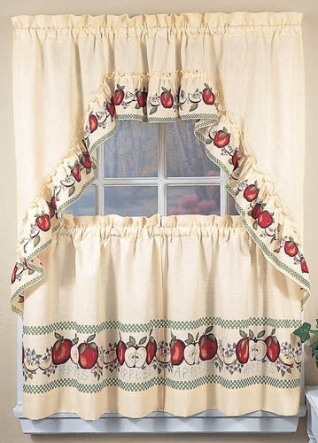 Apple Window Curtains Country Kitchen Decor Swag 36