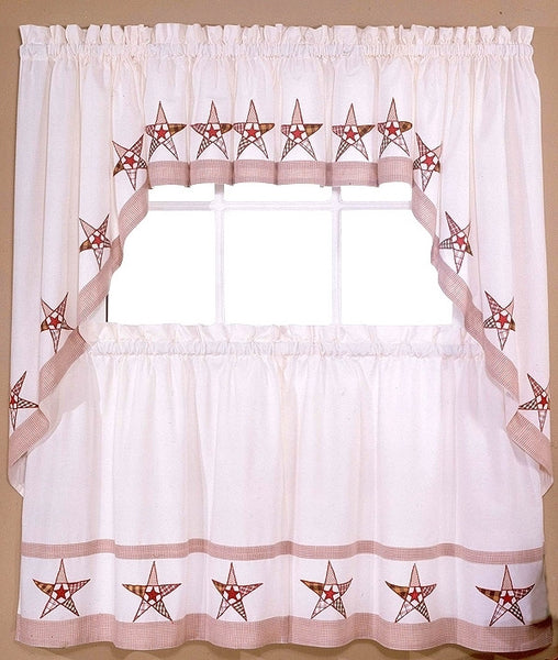 country star kitchen curtains country barn curtains valance 36 quot tiers kitchen 6202