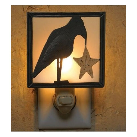 Primitive Crow Night Light