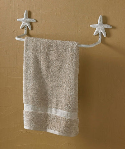16 Starfish Towel Bar white