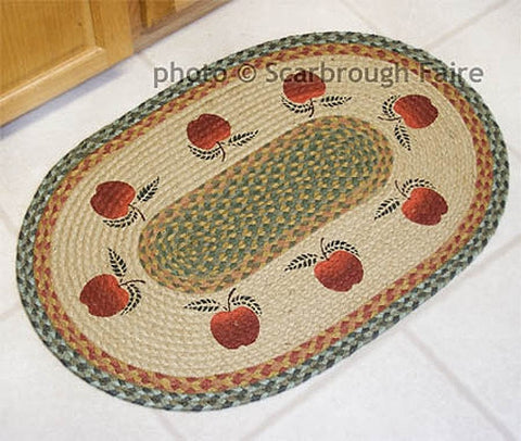 Apple Braided Rug Oval