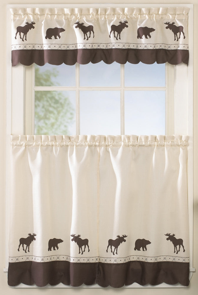Moose and Bear Window Curtain