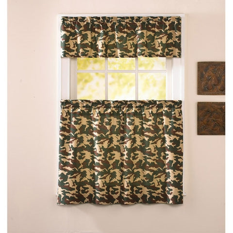 Army Camo Window Curtain Camouflage