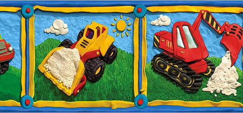 Kids Construction Wallpaper Border GU92031B