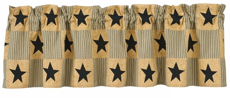 Country Curtain Valance Primitive Star