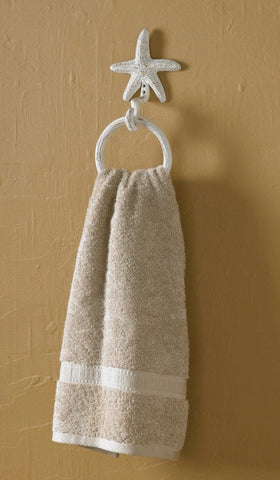 Starfish Ring Hook White towel holder