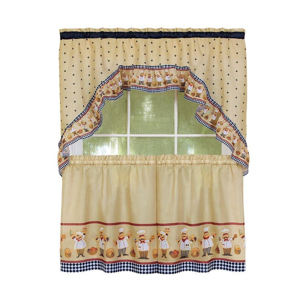 Italian Fat Chef Window Curtain Set