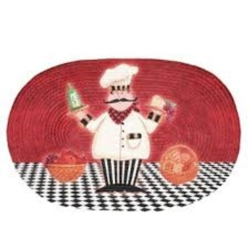 Italian Fat Chef Kitchen Rug