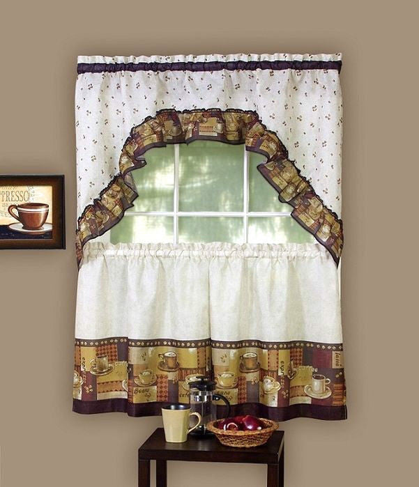 Espresso Coffee Window Curtain