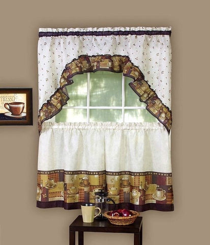 Kitchen Coffee Window Curtain Set