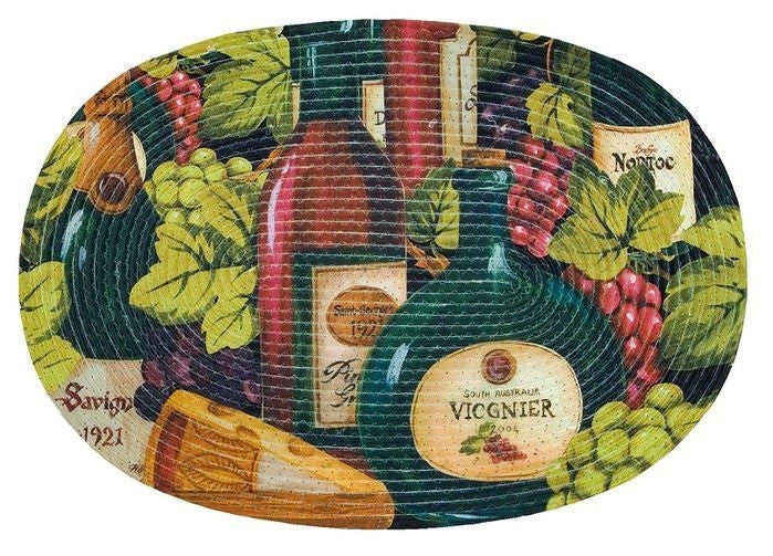 Wine and Grapes Kitchen Rug