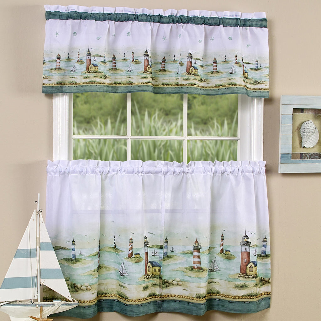 Lighthouse Window Curtain Set Valance