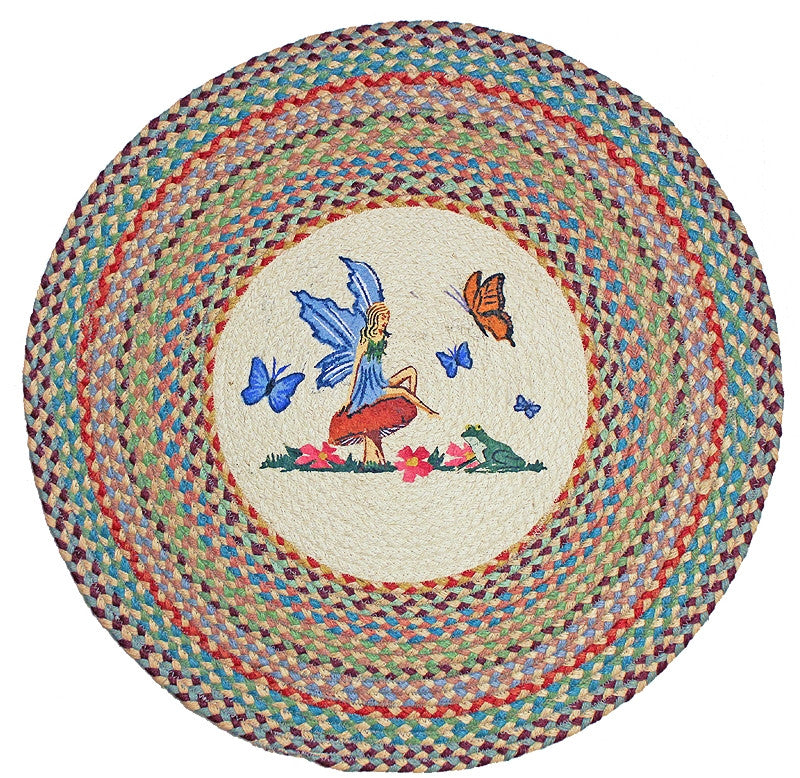 Fairy Braided Rug Round