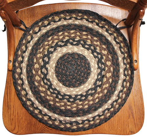 Braided Chair Pads Coffee Blend