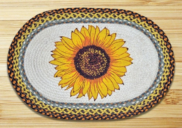 Sunflower Braided Rug Oval