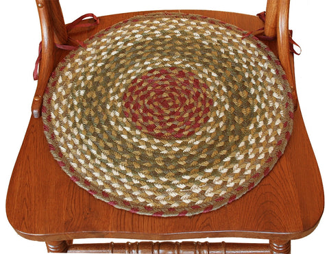Braided Chair Pads Apple Pie