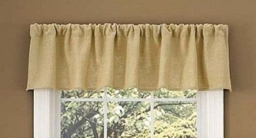 Natural Country Curtain Valance Burlap