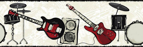 Rock Band Wallpaper Border CK7781B